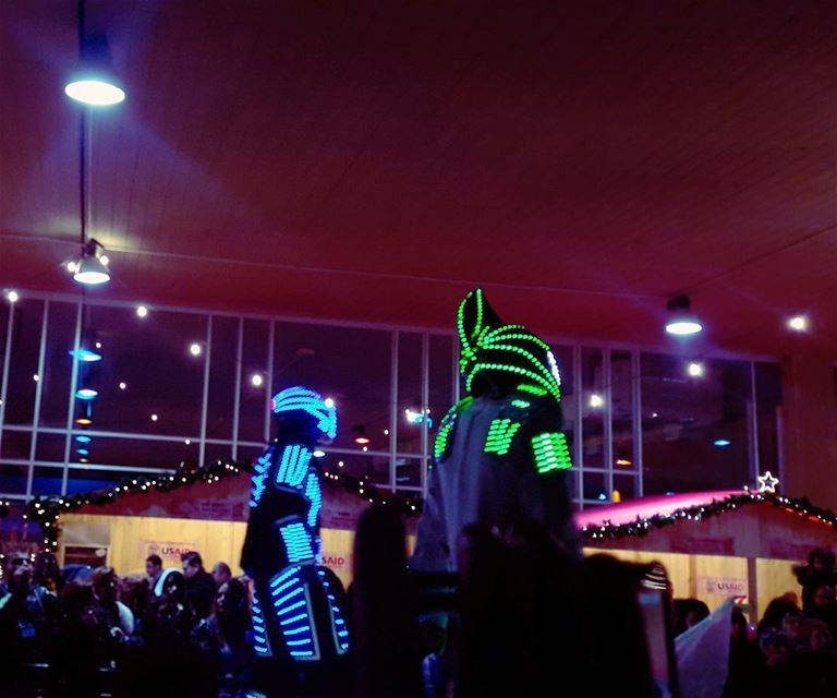 Aliens in Tripoli's Christmas Market ceremony 😮 Tripoli  TripoliLB ... (Rachid Karami International Fair)