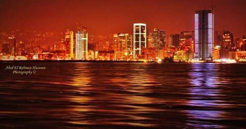 يا بيروت ، يا ست الدنيا يا بيروت ❤The stunning Beirut , as seen from... (Beirut, Lebanon)