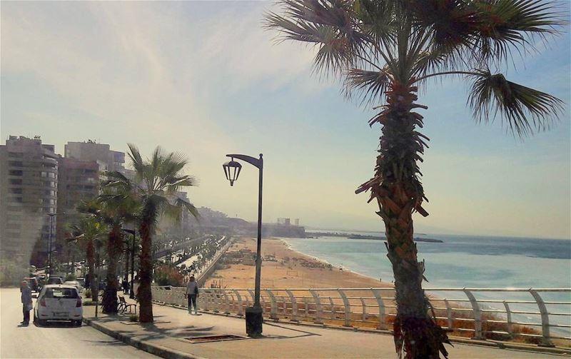 Beirut's largest public beach RiseandShine goodmorning Bonjour ...