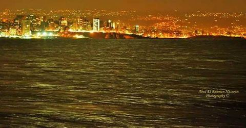 El Raouché, as seen from the sea during night 💓 | Like my photography... (Raouché)
