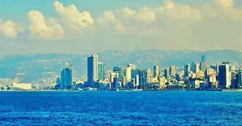 Good morning Beirut Lebanon Lebanese Mediterranean sea landscape ... (Beirut, Lebanon)