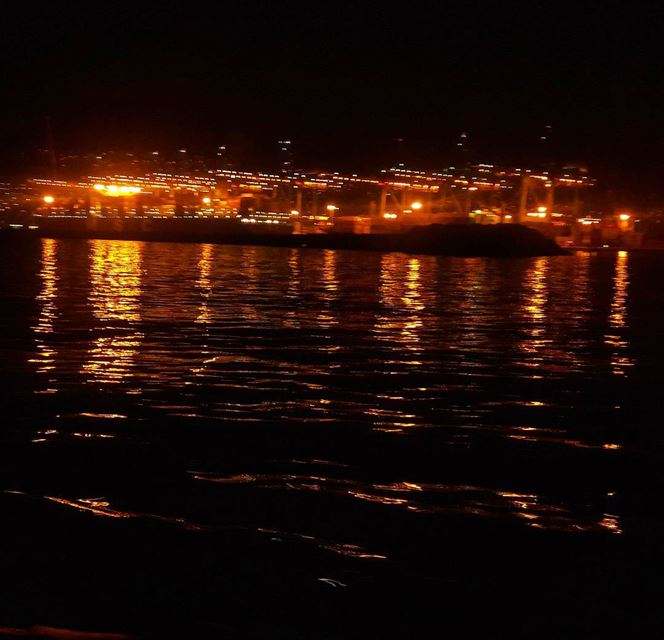 Hello from Beirut port Lebanon Lebanese Mediterranean sea landscape...