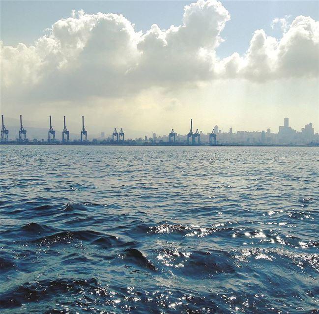 Beirut 's port as seen from the sea Lebanon Lebanese Mediterranean ...