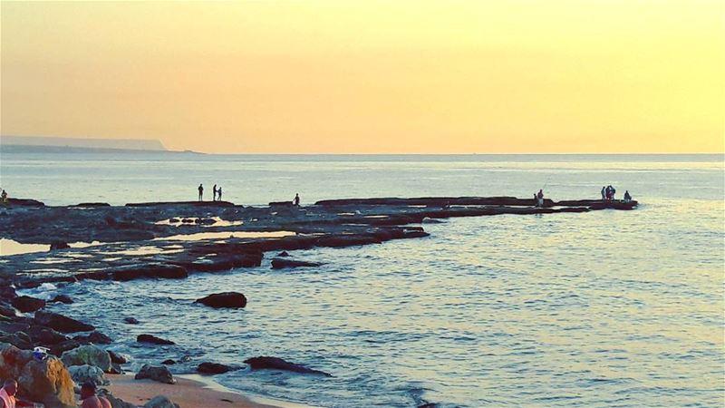 Have a great evening dears 🌅 Lebanon Lebanese Mediterranean Sea ... (El-Mina, Tripoli)