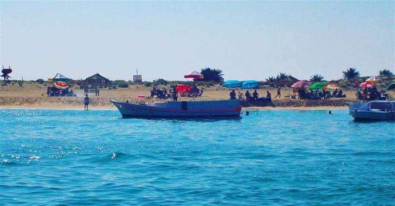 🌊🌊🌊 Beautiful refreshing day People island Keepcalm ... (Rabbits Island- El Mina.)