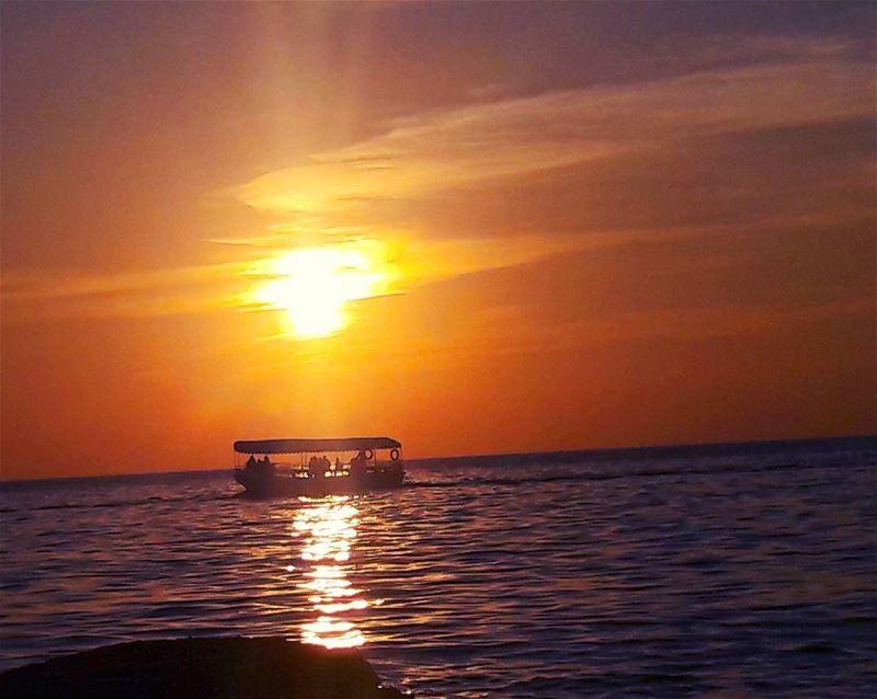 ⛵⛵⛵ Mediterranean Sea Sunset Sky Lebanon Lebanese landscape ... (الميناء طرابلس)