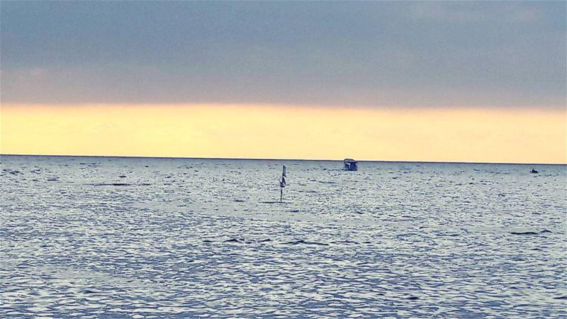 Have a great evening dears 😙 Mediterranean Sea Sunset Sky Lebanon... (جزيرة عبد الوهاب)