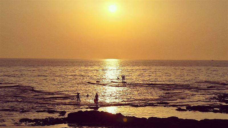 💛 Mediterranean Sea Sunset People Sky Lebanon Lebanese landscape... (Tripoli, Lebanon)