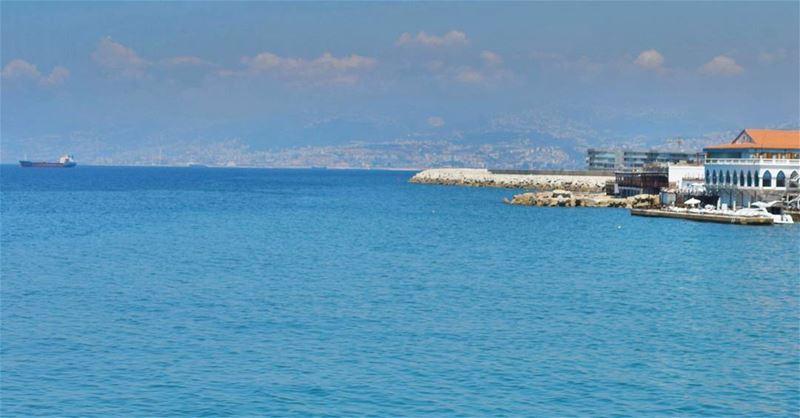 Beirut 🌊 Beautiful Beyrouth Keepcalm Mediterranean Sea Amazing ... (Ain El-Mreisseh)