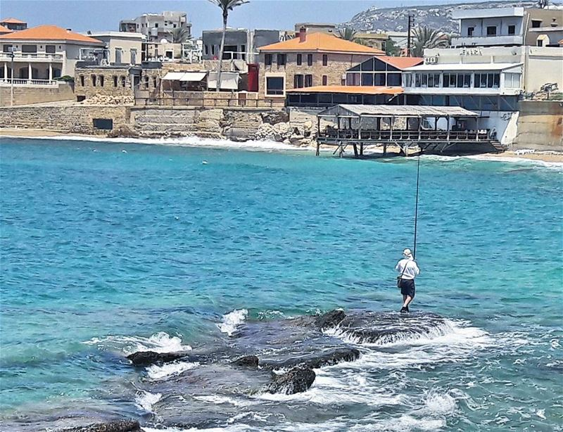 Good morning 🌊🌊🌊 Bonjour goodmorning Fishing Batroun Lebanon ... (Bahsa-Batroun)