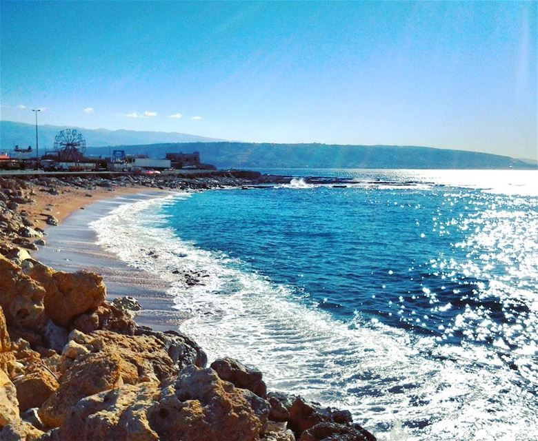 🌊🌊🌊 Beautiful Beach Keepcalm Mediterranean Sea Amazing Waves ... (Mina Tripoli)