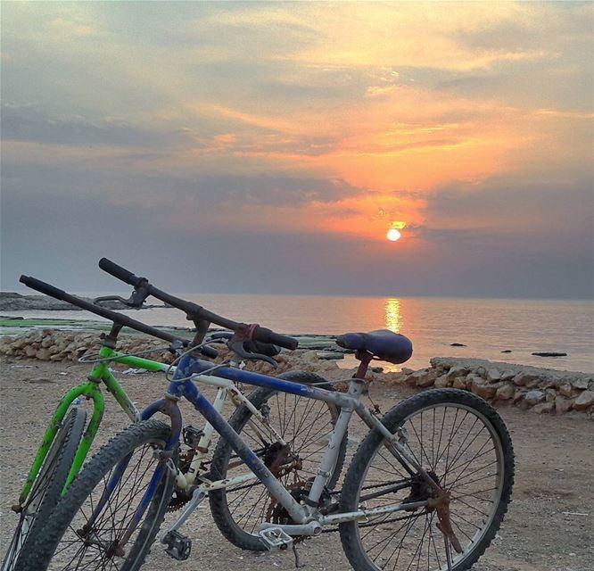 Biking with a view 🌅 Biking Sport Bikes Beach Tripoli TripoliLB ... (El Mîna, Liban-Nord, Lebanon)