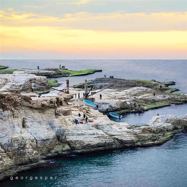 """Fishermen"" Rawché, Beirut 🇱🇧.... proudlylebanese beautifullebanon... (Beirut, Lebanon)"
