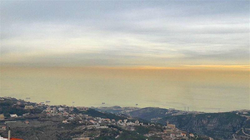 🌅 Keserwan Beautiful Sunset Boats Keepcalm Mediterranean Sea ... (Keserwen)