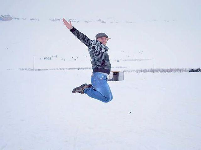 Cse I'm happy ❄❄❄ HappyMe HappyNewYear Lebanon Lebanese Arz Flying ... (Arz Bcharé)