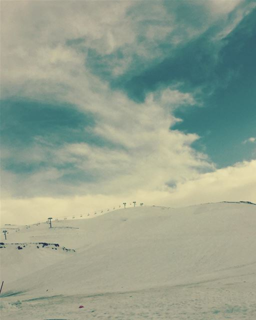 WinterWillNeverEnd. winter snow lebanon cold faraya ski ... (Faraya Mzaar ski resort)