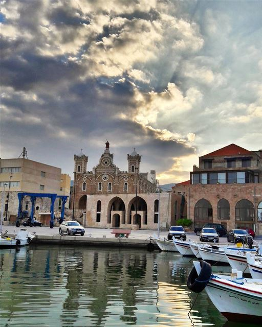 Good morning from Batroun 's port Lebanon Lebanese Mediterranean sea... (Port Batroun)