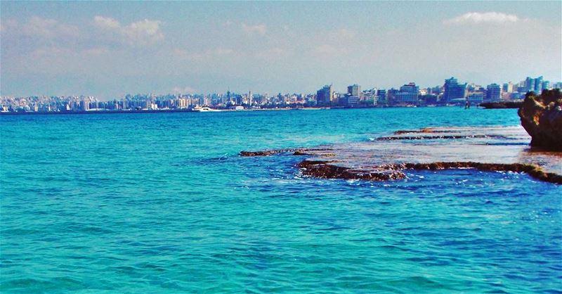 Enjoy your weekend igers 🌊 KeepCalm Beautiful refreshing day ... (El-Mina, Tripoli)