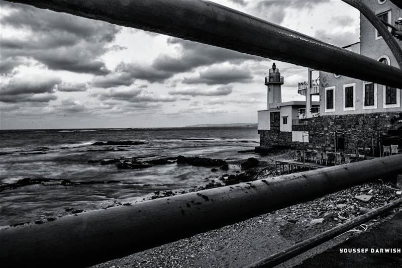 lebanon Tyre bw lighthouse libano livelovebeirut livelovejezzine ...