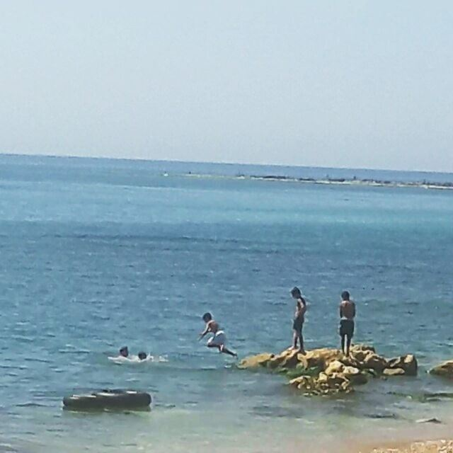 The little swimmers 🌊🌊🌊 LiveLoveWeekends Tripoli TripoliLB Lebanon ... (Tripoli, Lebanon)