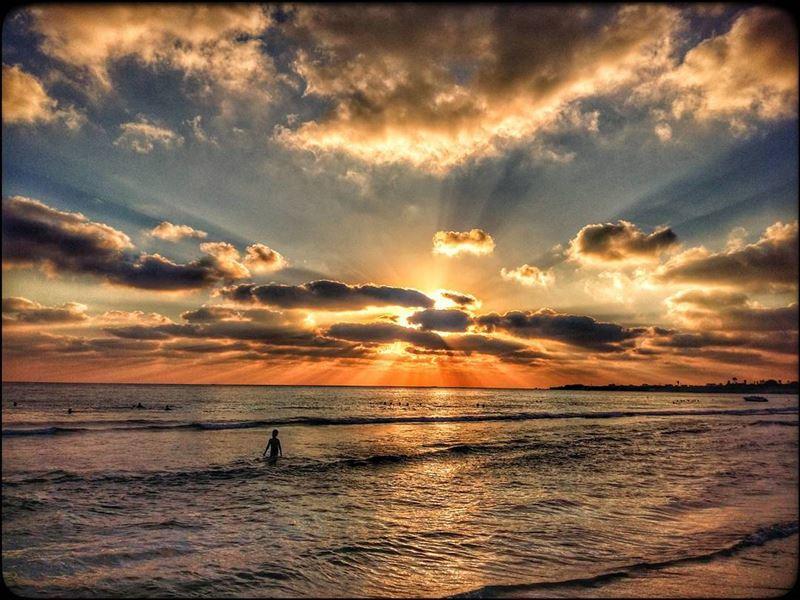 tyre southlebanon lebanon sea shore beach mediterranean sunset ... (Tyre, Lebanon)