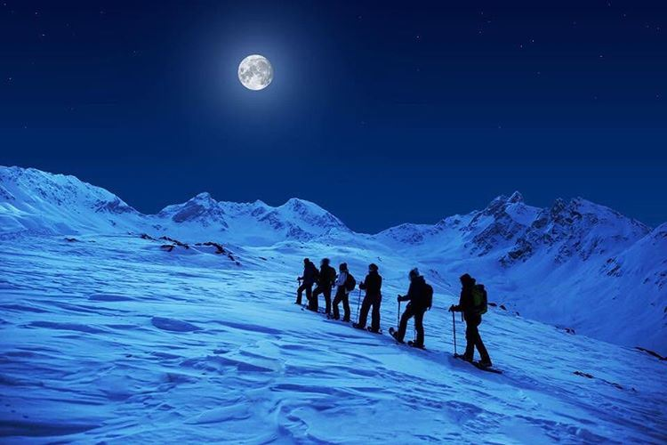fullmoon snowshoeing wildadventure lebanontimes laklouk ... (Laklouk)