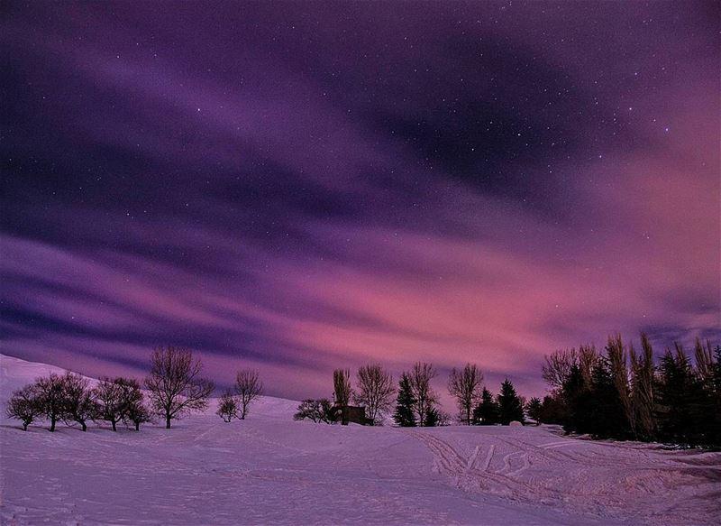 Heavenly sky ❄🌌🌌❄.... night walk walking hike hiking nighthike... (Kanat Bakich)