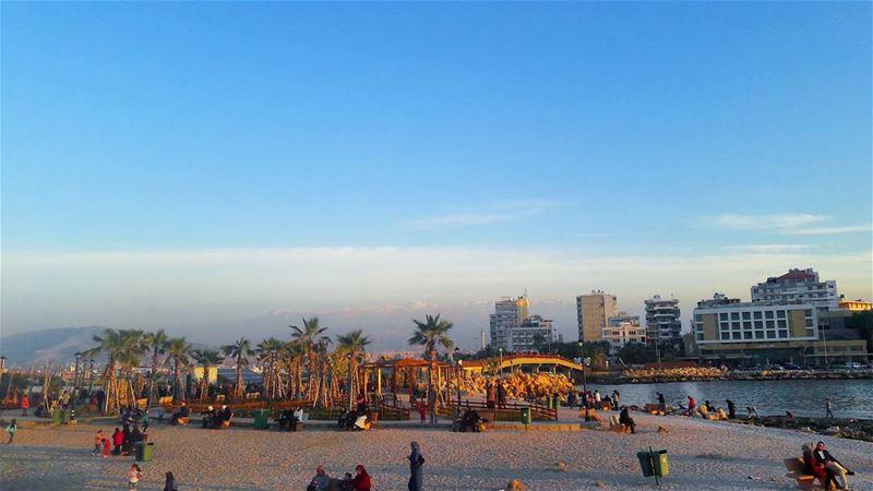 من جزيرة عبدالوهاب قبالة شاطئ طرابلس لبنان TripoliLB Tripoli ElMina... (جزيرة عبد الوهاب)