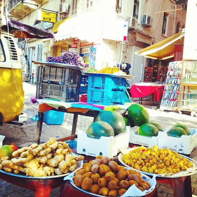 Fresh fruits from Tal square.قرب عالطيب...  TripoliLB  Tripoli  souks ...