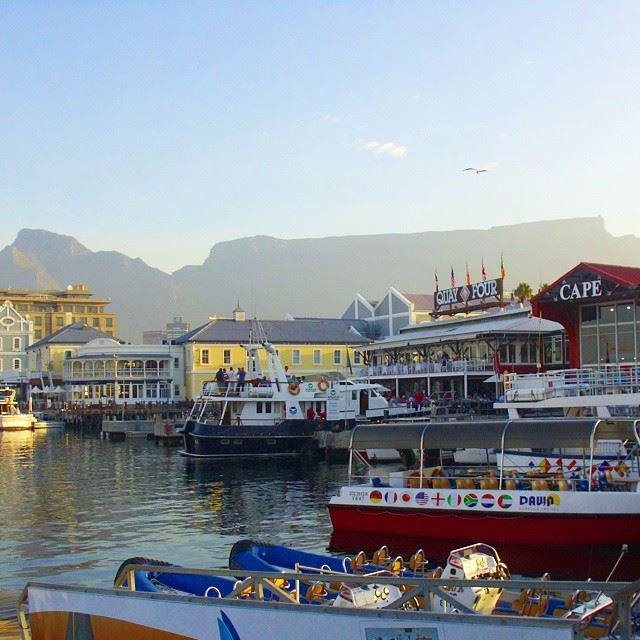 Table mountains from the Victoria waterfront....lovely Cape Town! Africa...