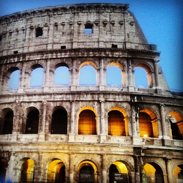 What an impressive building.....the famous  Colosseum! Roma  Rome  Roman...