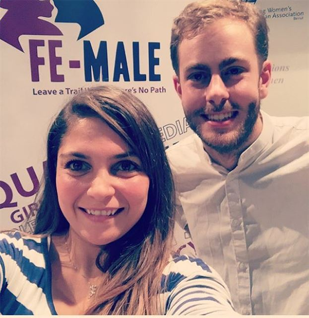 With the cool guy 😊 16daysofactivism 16days feminism lebanon ...
