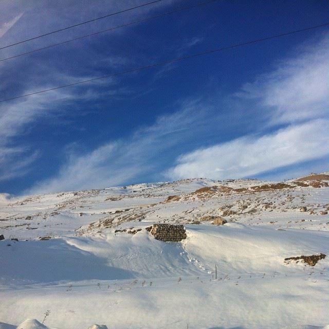 zahle lebanon snow amazing nofilter whitelebanon lovelebanon ❄️❤️ (Bekaa)