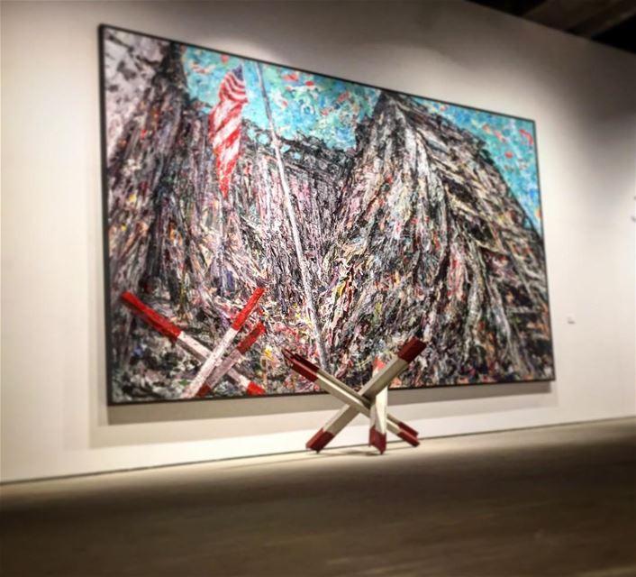 The amazing aymanbaalbaki art leo love soul desert mydubai ... (Saleh Barakat Gallery)