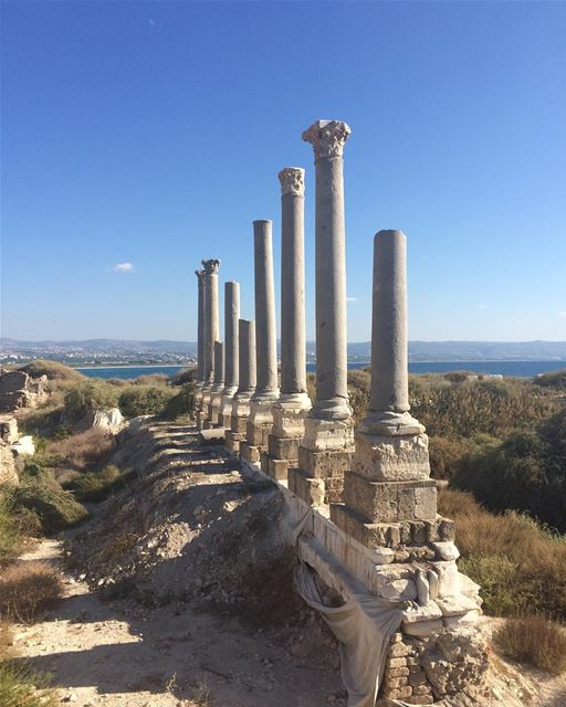 The Mina Archaeological Site on the sea at Tyre (صور جنوب لبنان)