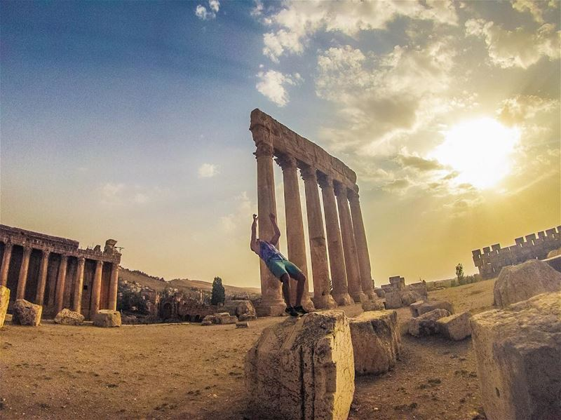 tbweek - Day 3 - Sunset view at Temple  (Baalbek, Lebanon)