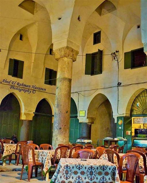 Drinking coffee in Souk Hrajel is always a good idea ☕ LiveLoveTripoli... (Tripoli, Lebanon)