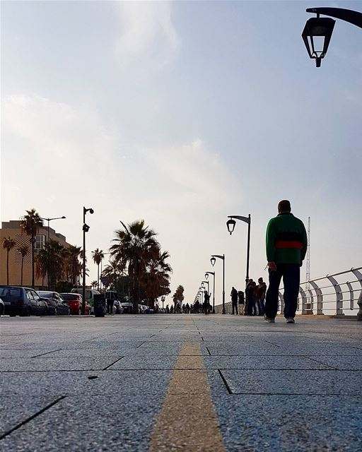 ... A morning stroll along the seashore;That's all you need, no less no... (Manara Beirut)