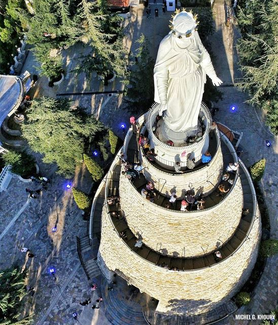 End of the week from our lovely L A D Y of L E B A N O N ...... (The Lady of Lebanon - Harissa)