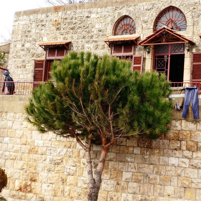 The elderly gentleman can be seen frequently pacing his balcony lost in... (Dayr Al Qamar, Mont-Liban, Lebanon)