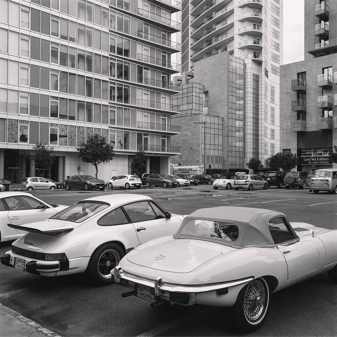 Back to the golden age vintagecars lebaneseautomotive jaguarftype ... (Downtown Beirut)