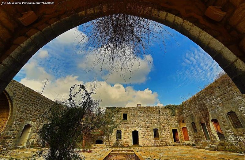 Have a nice day! 🙂  old  architecture  architecturelovers  sky  clouds ... (Aramoun, Keserwan)