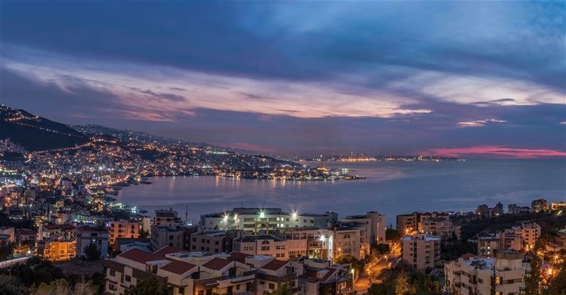 jounieh panoramic sunset ... (Joünié)