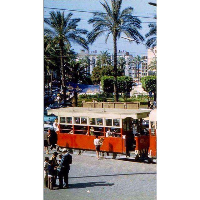 ساحة البرج ١٩٦٢،Borj Square 1962 . ساحة_البرج ترمواي_بيروت ريفولي_بيروت