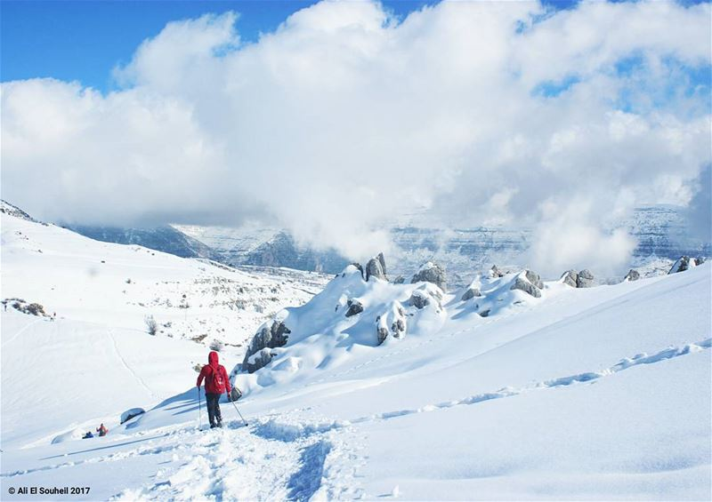 tb snow snowshoeing mountains winter laqlouq mountlebanon sky ... (El Laqloûq, Mont-Liban, Lebanon)