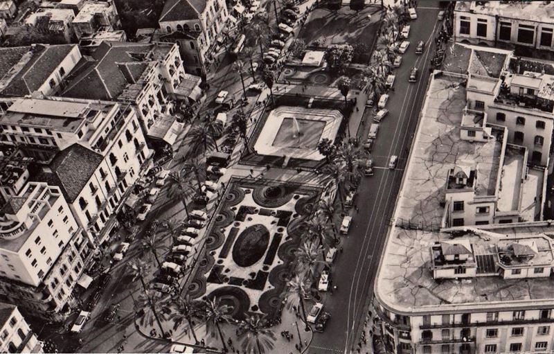 Beirut Martyrs Square and Savoy Hotel 1959