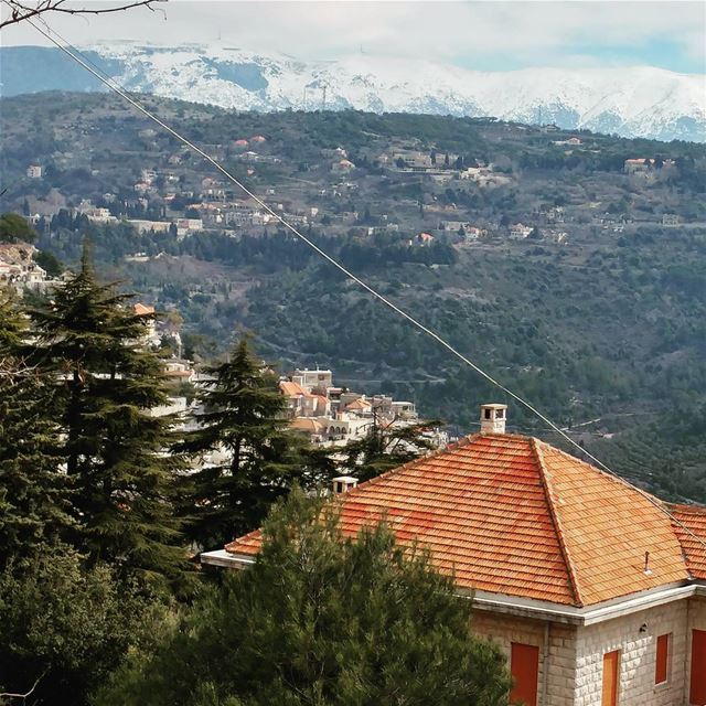 View of a Lebanese village in the mountains. livelovedeirelkamar Lebanon... (Dayr Al Qamar, Mont-Liban, Lebanon)