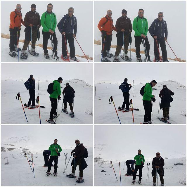 snow snowshoeing white moutains sannine lebanon lebaneese friends ... (Sannin, Mont-Liban, Lebanon)