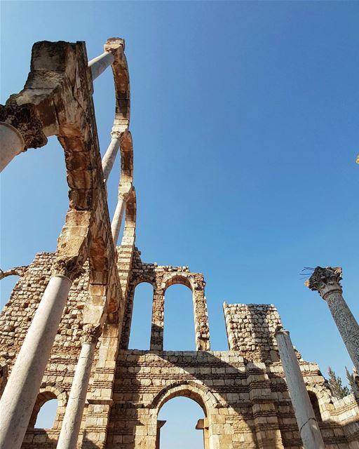 ruins heritage history unesco (Aanjar, Béqaa, Lebanon)