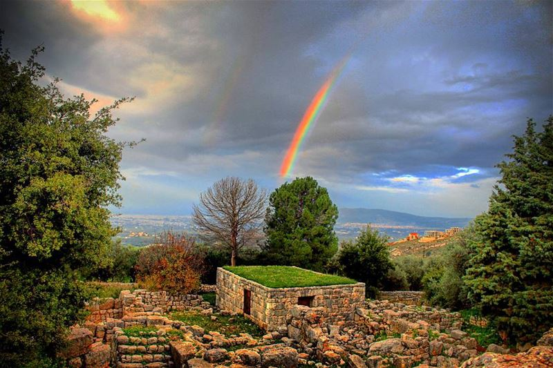 """Like a rainbow, always keep on shining & show ur beauty even under the... (Aïn Aakrîne, Liban-Nord, Lebanon)"